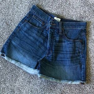 J Crew High-Rise Denim Shorts in Brixton Wash